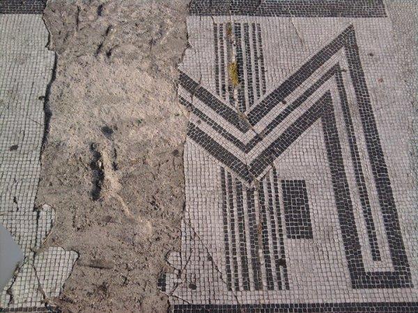 Mosaicos fascistas. Estadio olimpico. Roma.Foto R.Puig.