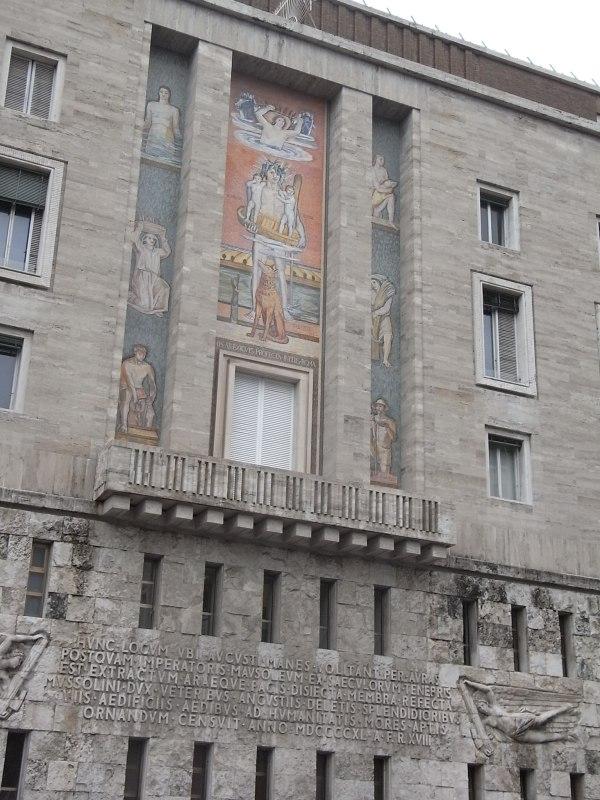 Fachada piazza Augusto Imperatore. Roma. Foto R. Puig
