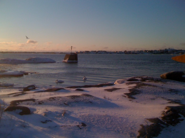 Atardecer invernal en la costa del Bohuslan. Foto R.Puig.
