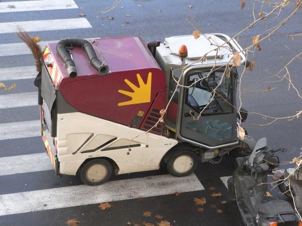 Carro de los spazzini. Roma. Foto R.Puig