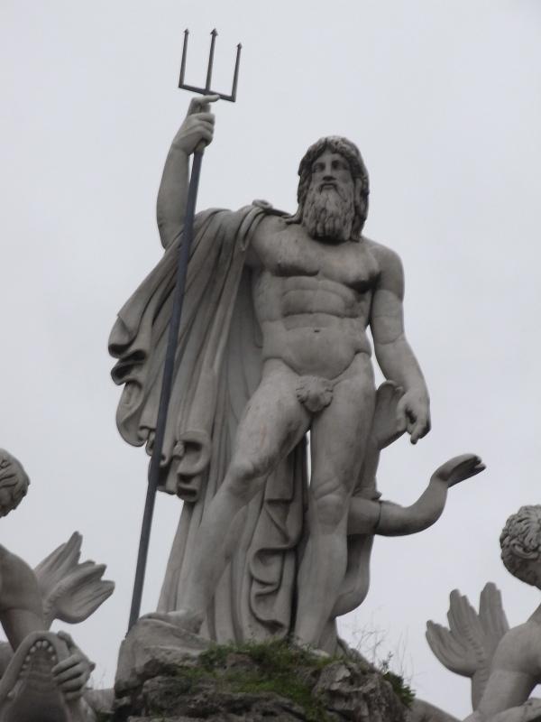 Neptuno con su tridente. Piazza del Popolo.Roma.Foto R.Puig