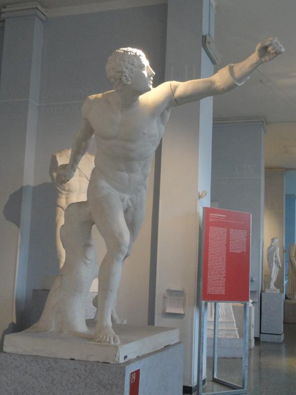 Gladiador Borghese. Gipsoteca de Roma. Foto R.Puig.