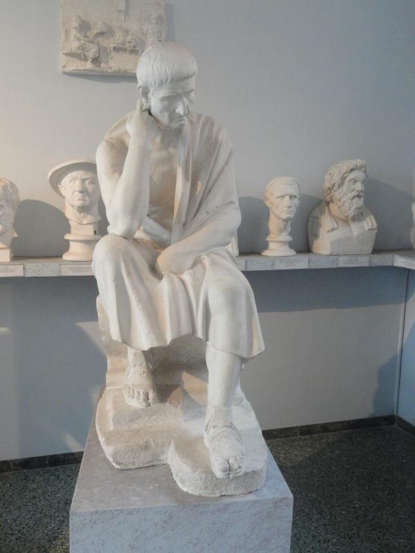 Séneca pensativo. Gipsoteca de Roma. Foto R.Puig.