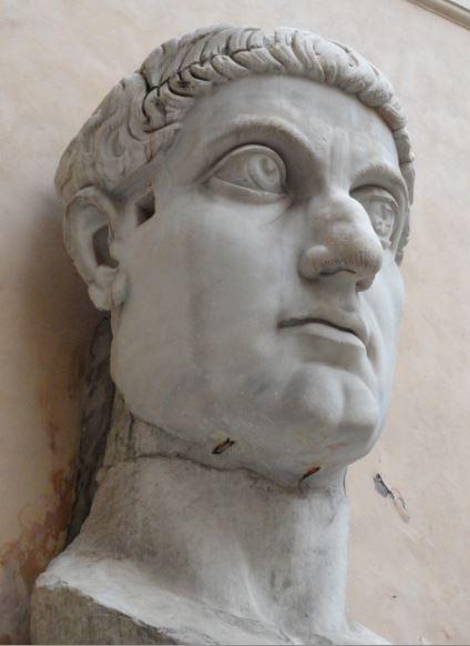 Cabeza colosal de Constantino. Roma. Musei Capitolini. Foto R.Puig