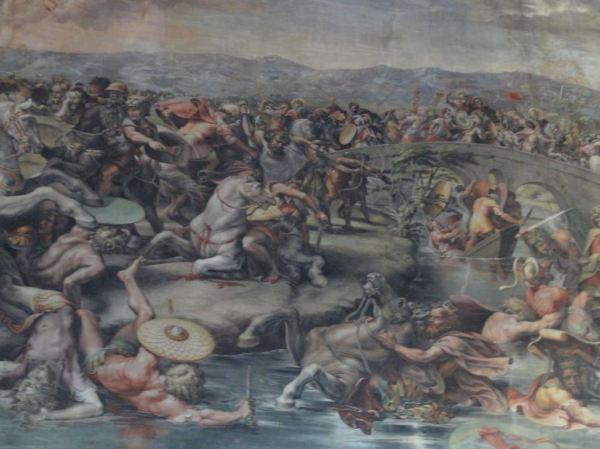"""""""Bajo este signo vencerás"""". Estancias de Rafael, Museos Vaticanos. Foto R.Puig"""