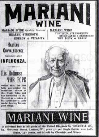 León XIII en la publicidad del vino Mariani