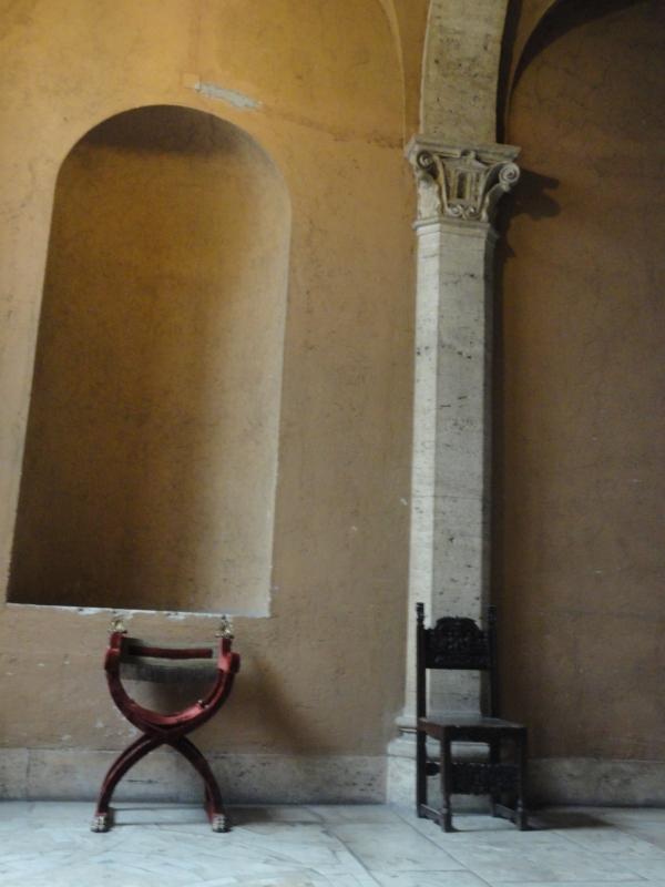 Rellano de la escalinata de Palazzo Venezia. Foto R.Puig
