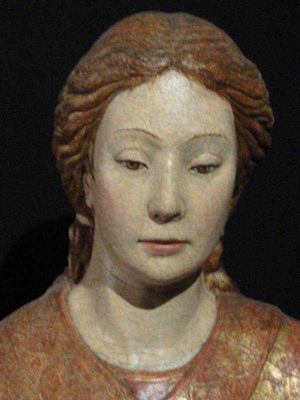 Una santa. Talla del S.XV. Palazzo Venezia. Foto R.Puig