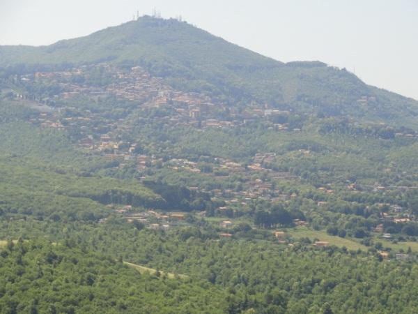 El monte Cavo desde Tusculum Foto R.Puig