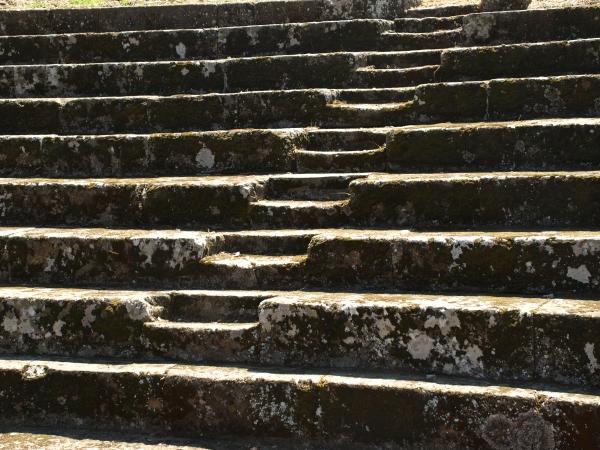 Gradas del teatro romano. Tusculum Foto R.Puig