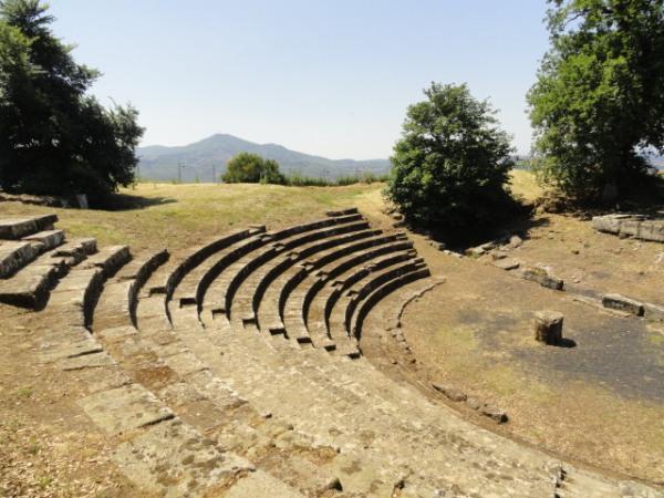 Teatro romano de Tusculum. Foto R.Puig.