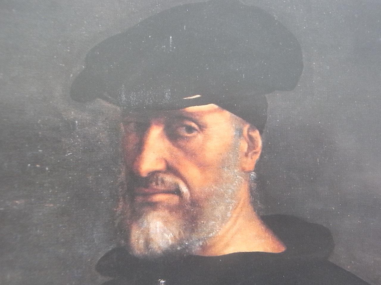Andrea Doria por Sebastiano del Piombo. Detalle