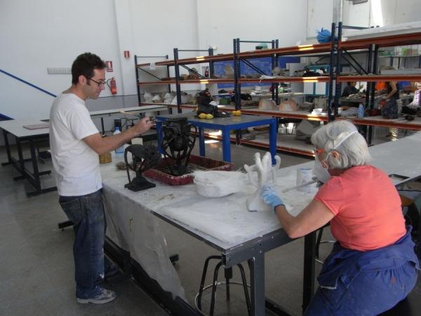 Preparando la cascarilla. Foto R.Puig
