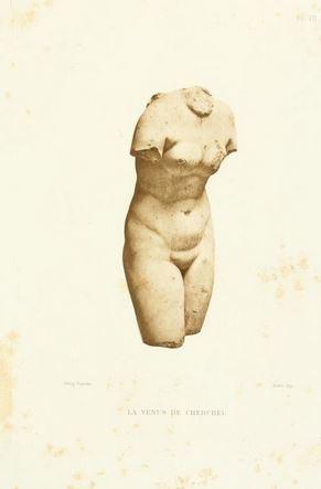 Afrodita de Cherchell. George Doublet en Musées de l'Algerie. Paris 1893 planche VII