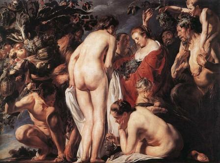 Alegoria de la fecundidad.Jordaens.Museo Ral de Bellas Artes  de Bélgica