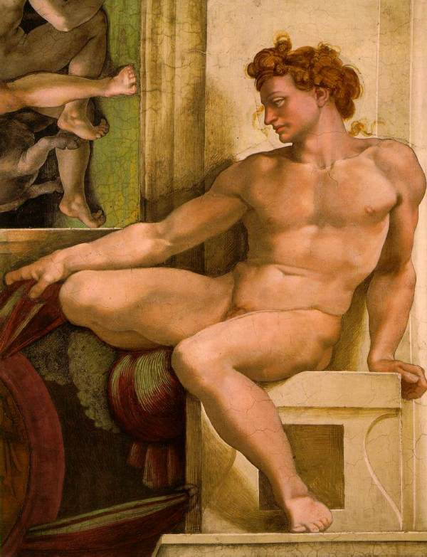 Michelangelo. Ignudo. Capilla Sixtina. www.shafe.co.uk
