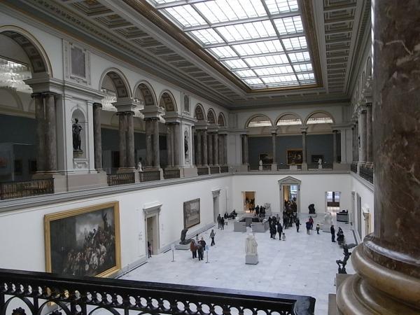 Museo de Bellas Artes de Bruselas. Salon de entrada.