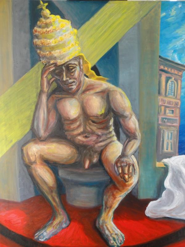 Perplexus pontifex.Acrilico y oleo.R.Puig