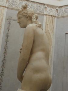 Vista lateral de la Venus Capitolina. Roma. Foto R.Puig
