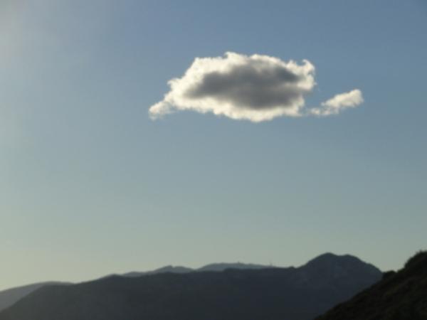 Aitana desde las alturas del Col de Rates.Foto R.Puig.
