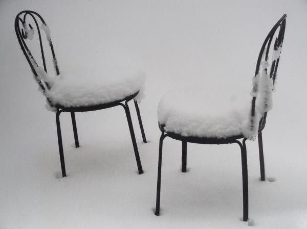 Conversación invernal. Foto R.Puig