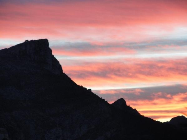Crepúsculo sobre el Segaria desde la Almadraba. Enero 2013.Foto R.Puig