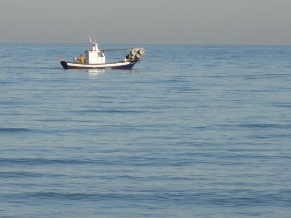 La Almadraba 6 de enero 2013.Barca de pesca.Foto R.Puig.