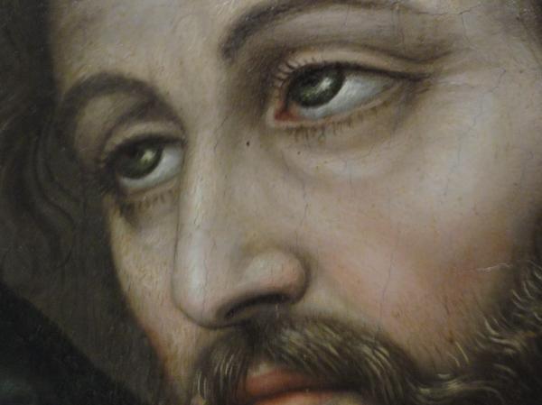 Pentecostés. Nicolas Borrás. ss. XVI y XVII. Museo Bellas Artes Valencia. Detalle. Foto R.Puig