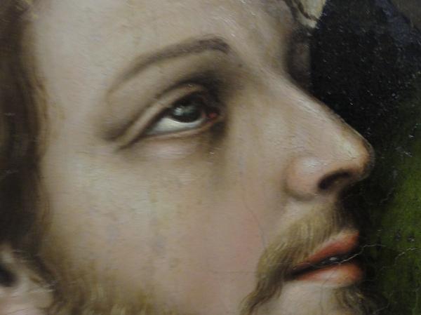 Pentecostés. Nicolas Borrás. Museo Bellas Artes Valencia. Detalle. Foto R.Puig