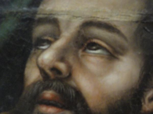 Pentecostés. Nicolas Borras. ss. XVI y XVII. Museo Bellas Artes Valencia. Detalle. Foto R.Puig