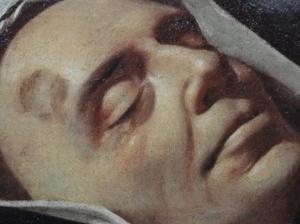 Velazquez. El fraile trinitario Simon de Rojas difunto. Detalle .Museo Bellas Artes. Valencia. Foto R.Puig