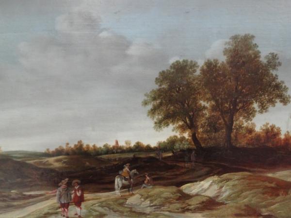 Esaias van den Velde. Paisaje con dunas y soldados. Detalle. Museo BBAA ValenciaFoto R.Puig