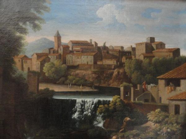 Jan Frans van Bloemen . Cascada de Tívoli. Detalle. Museo BBAA Valencia.Foto R.Puig