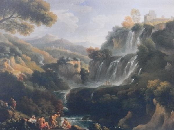 Jan Frans van Bloemen. Paisaje con las cataratas de Tívoli. Detalle. Colección Doria Pamphili