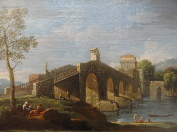 Jan Frans van Bloemen. Puente Milvio. Detalle. Museo BBAA Valencia.Foto R.Puig