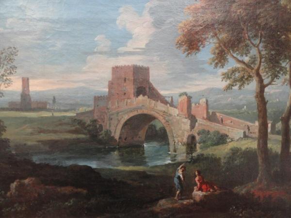 Jan Frans van Bloemen.Puente Salario. Museo BBAA Valencia.Foto R.Puig