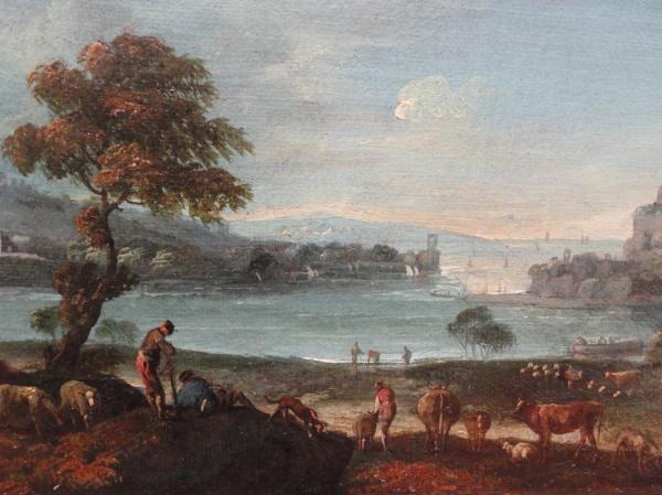 Paolo Anesi. Paisaje con pastores y ganado.Detalle. Museo BBAA Valencia.Foto R.Puig