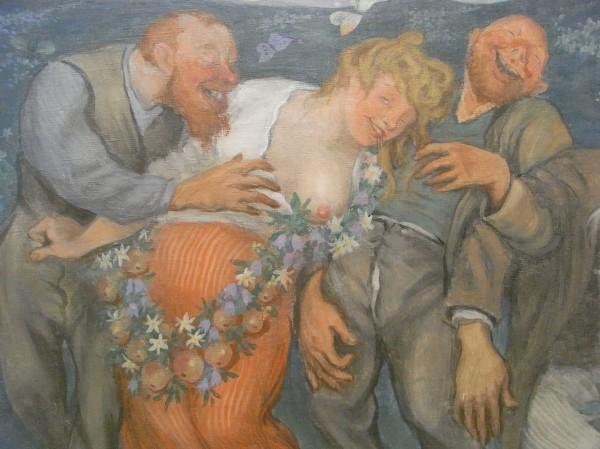 "Ivar Arosenius. ""Borrachera"".1906.Detalle. Museo de Bellas Artes de Gotemburgo. Foto R.Puig"