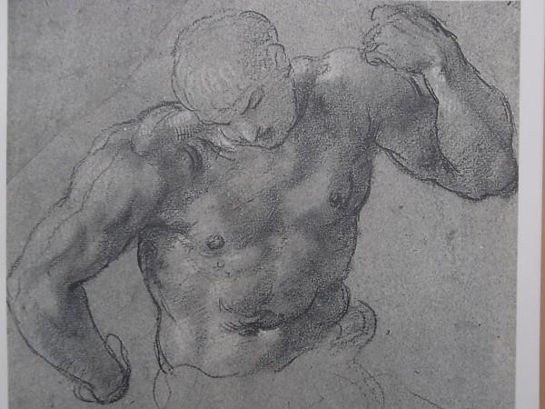 Annibale Carracci. Boceto para Hercules sosteniendo el Globo.ca. 1595. Biblioteca Real de Turin