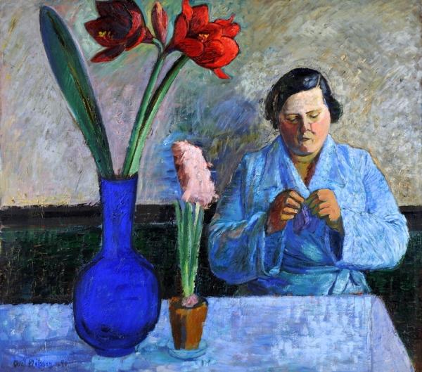 Axel Nilsson.Mujer con amarylis. Museo de Bellas Artes de Gotemburgo.