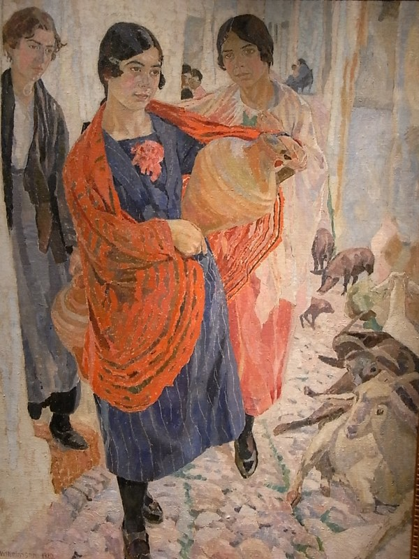 Carl Wilhemson.Tres mozas de Granada Galeria Falhaes.