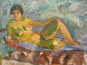 Karl Isakson.Modelo reclinada.Museo BBAA.Gotemburgo.Foto R.Puig.