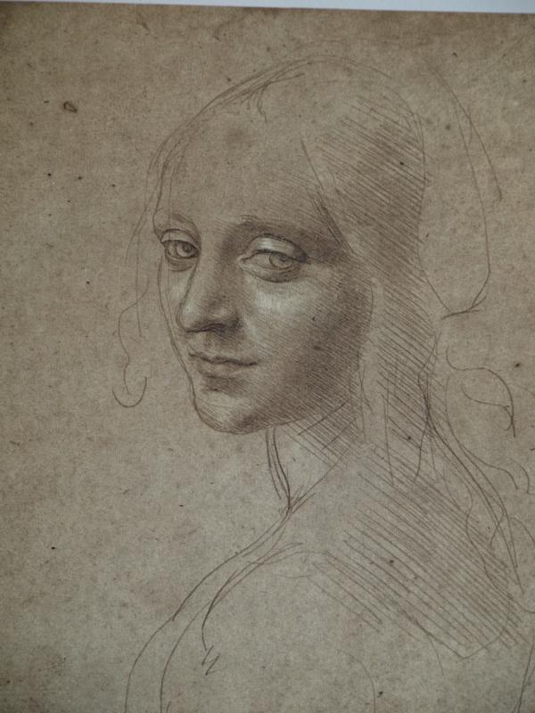 Leonardo Da Vinci. ca 1483. Busto de mujer. Biblioteca Real de Turin.
