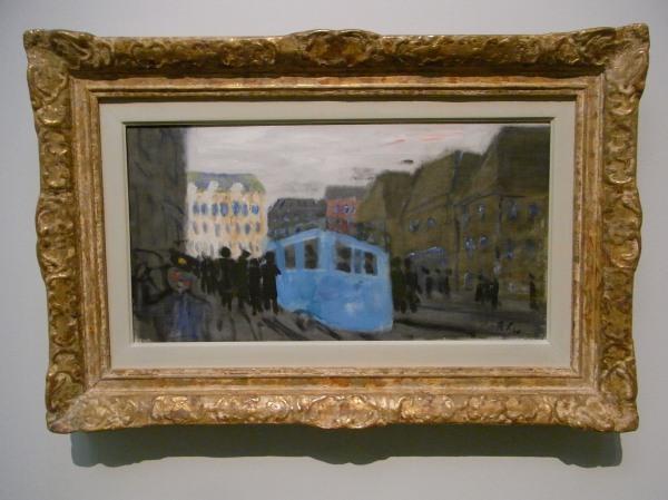 Ragnar Sandberg.El autobús azul.Museo BBAA.Gotemburgo. Foto R.Puig.