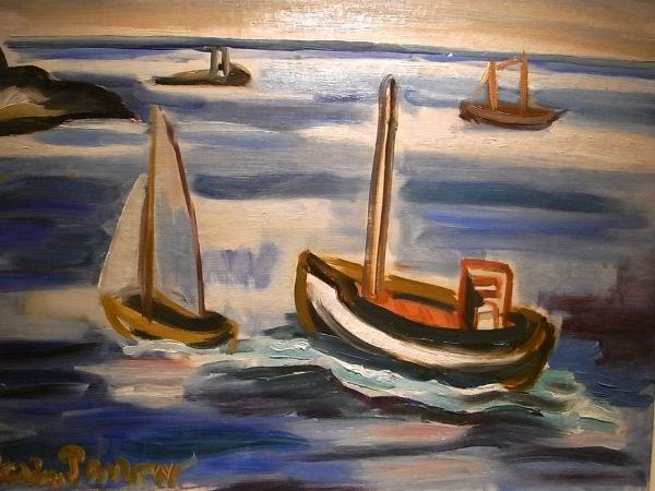 Tor Bjuström. Barcas de vela. Galeria Fahlnaes.Foto R.Puig