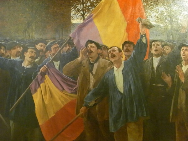 Antoni Estruch. Manifestacion por la Republica.1904.Detalle.Museo Arte Sabadell.Foto R.Puig