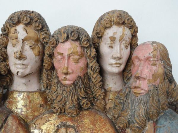 Apóstoles del órgano de Salzburgo.s.XVI.Detalle.Millesgården.Foto R.Puig
