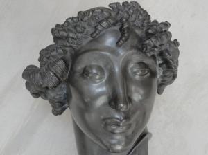 Carl Milles.Cabeza de mujer. Plata. 1917.Millesgården.Foto R.Puig