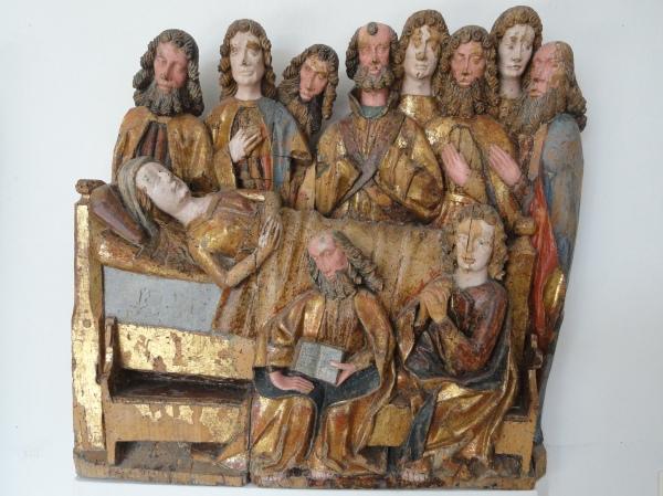 Dormición de la Virgen. Del órgano de Salzburgo.s.XVI.Millesgården.Foto R.Puig