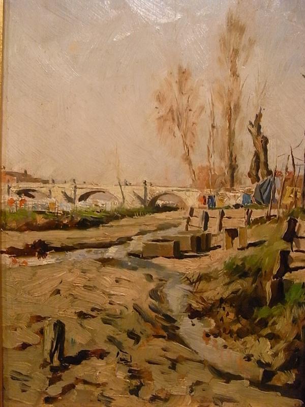 Jose Vila Cinca. El rio Manzanares 1882.Museo Arte Sabadell.Foto R.Puig